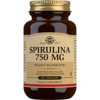 Solgar Spirulina 750mg Συμπλήρωμα Διατροφής Σπιρουλίνα 80 ταμπλέτες