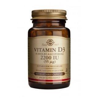 Solgar Vitamin D3 2200IU 50 Veg. Caps