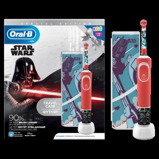 Oral-B Power Star Wars Special Edition Ηλεκτρική Παιδική Επαναφορτιζόμενη Οδοντόβουρτσα 3+ Ετών + ΔΩΡΟ Travel Case