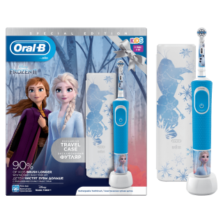 Oral-B Vitality Kids Frozen Special Edition Ηλεκτρική Παιδική Επαναφορτιζόμενη Οδοντόβουρτσα  3+ Ετών + ΔΩΡΟ Travel Case