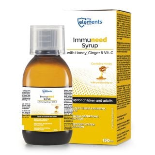 My Elements Immuneed Syrup 150ml Σιρόπι για το Λαιμό