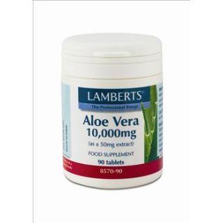 BestPharmacy.gr - Photo of Lamberts Aloe Vera H.Str.10.000mg 90 Tabs