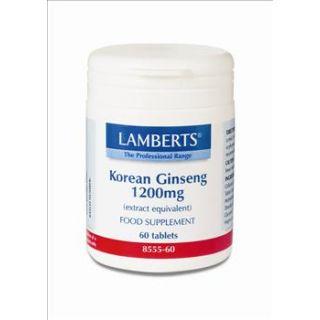 BestPharmacy.gr - Photo of Lamberts Korean Ginseng 1200mg 60 Tabs