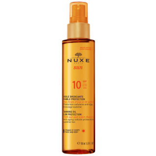 Nuxe Sun Huile Bronzante Visage et Corps Faible Protection SPF10 150ml Αντιηλιακό Λάδι Μαυρίσματος