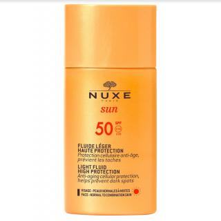 Nuxe Sun Fluide Léger Haute Protection SPF50 50ml Αντηλιακό Ελαφριάς Υφής