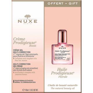 Nuxe Creme Prodigieuse Boost Multi-Correction Day Gel Cream 40ml Κρέμα Ζελ Πολλαπλής Δράσης για Κανονική - Μικτή Επιδερμίδα + Δώρο Huile Prodigieuse Florale 10ml Λάδι Ενυδάτωσης Με Λουλουδένιο Άρωμα