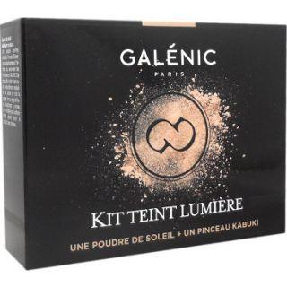 Galenic Kit Teint Lumiere Πούδρα που Μειώνει τη Λιπαρή Όψη & Διορθώνει το Μακιγιάζ & Πινέλο