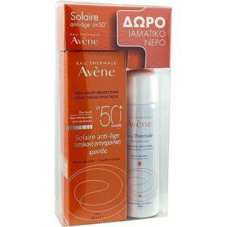 Avene Solaire Anti-Age SPF50+ 50ml Αντιγηραντικό Αντιηλιακό Προσώπου + Δώρο Avene Eau Thermale Spray Ιαματικό Νερό Σε Σπρέι 50ml