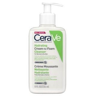 CeraVe Hydrating Cream to Foam Cleanser Αφρώδης Κρέμα Καθαρισμού για Κανονικό/Ξηρό Δέρμα 236ml