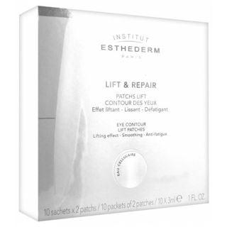 Institut Esthederm Lift & Repair Eye Contour Lift Patches 10x2 items Επιθέματα Ματιών Αναδόμησης κατά των Μαύρων Κύκλων