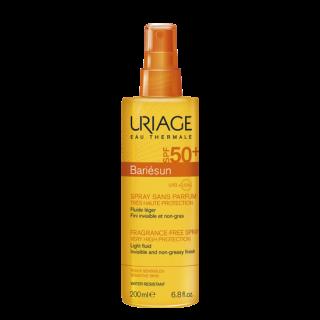 Uriage Bariesun Spray Fragrance-Free spf50 200ml Αντηλιακό Spray για Πρόσωπο & Σώμα Χωρίς Άρωμα