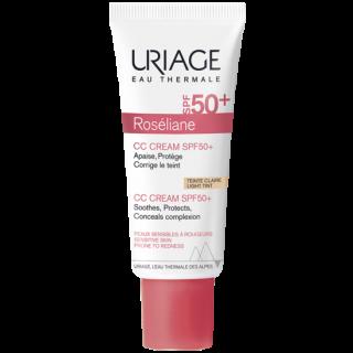 Uriage Roseliane CC Cream Spf50+ Light Tint 40ml Ενυδατική Κρέμα Κατά της Ερυθρότητας Με χρώμα