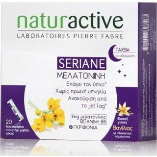 Naturactive Seriane Melatonine 20φακελίσκοι Συμπλήρωμα Διατροφής για την Αντιμετώπιση της Αϋπνίας