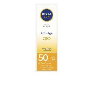 Nivea Anti Age Q10 SPF50 50ml Αντηλιακή - Αντιγηραντική Κρέμα Προσώπου για Κανονικές - Ξηρές Επιδερμίδες