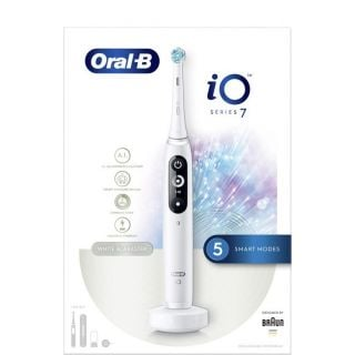 Oral-B iO Series 7 Magnetic White Alabaster Hλεκτρική Οδοντόβουρτσα 1τεμάχιο
