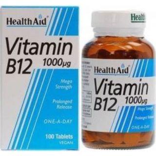 Health Aid Βιταμίνη B12 Vegan 1000mg 100 ταμπλέτες