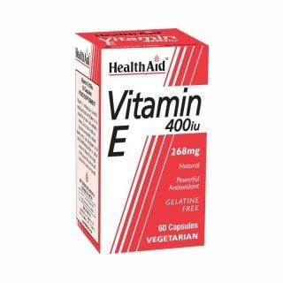 Health Aid Vitamin E 400IU 60 Caps Φυσική Βιταμίνη Ε