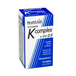 Health Aid Vitamin K Complex + Vitamin D3 30 Tabs