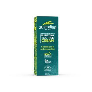 Optima Australian Tea Tree Antiseptic Cream 50ml Αντισηπτικό Κρέμα με Έλαιο Τεϊόδεντρου
