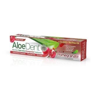 Optima AloeDent Triple Action Pomegranate 100ml Οδοντόκρεμα με Τριπλή Δράση και Ρόδι