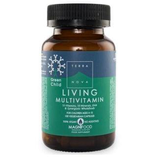Terranova Green Child Living Multivitamin 100Caps Πολυβιταμίνη για Παιδιά