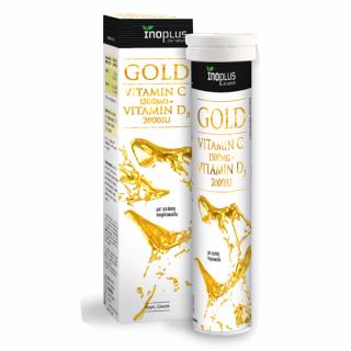 InoPlus Gold Vitamin C 1500mg + Vitamin D3 2000iu 20 Αναβράζοντα Δισκία