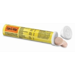 Bayer Cal-C-Vita Συμπλήρωμα διατροφής με Ασβέστιο & Βιταμίνες C & B 15 αναβράζοντα δισκία
