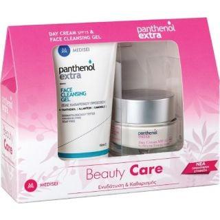 Panthenol Extra Promo Pack Beauty Care Κρέμα Ημέρας SPF15 50ml & Ζελέ Καθαρισμού Προσώπου 150ml