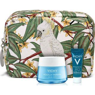 Vichy Aqualia Ενυδατική Κρέμα Πλούσιας Υφής 50ml & Mineral 89 Probiotic Booster Ανάπλασης & Επανόρθωσης 5ml