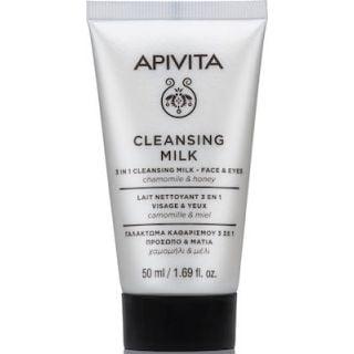 Apivita Mini Cleansing Milk 3in1 Chamomile & Honey For Face & Eyes 50ml