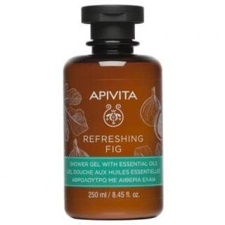 Apivita Refreshing Fig Shower Gel with Essential Oils 250ml Αναζωογονητικό Αφρόλουτρο Σύκου με Αιθέρια Έλαια