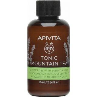 Apivita Mini Tonic Mountain Tea Shower Gel 75ml Mini Αφρόλουτρο με Αιθέρια Έλαια