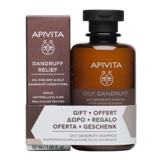 Apivita Dandruff Relief Oil 50ml + Δώρο Oily Dandruff Shampoo 250ml