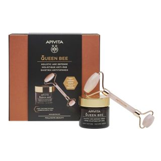 Apivita Queen Bee Κρέμα Ημέρας Ολιστικής Αντιγήρανσης Ελαφριάς Υφής 50ml & Δώρο Face Roller