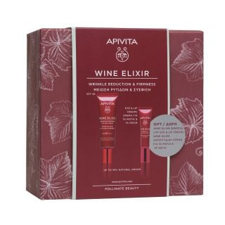 Apivita Promo Wine Elixir Αντιρυτιδική Κρέμα Ημέρας SPF30 για Σύσφιξη & Lifting - Αποχρωματισμός Πανάδων & ΔΩΡΟ Αντιρυτιδική Κρέμα Lifting για Μάτια & Χείλη