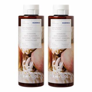 Korres Αφρόλουτρο Peach Blossom 2 x 250ml Άνθη Ροδακινιάς 1 + 1 ΔΩΡΟ