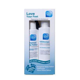 PharmaLead Promo Pack Αποσμητικό Spray Ποδιών 100ml & Ποδόλουτρο 150ml & Ξύλινη Ράσπα Ποδιών 20cm