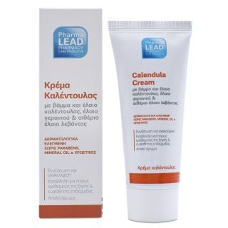 PharmaLead Calendula Cream 50ml Κρέμα Καλεντούλας για Ενυδάτωση & Ανακούφιση για την Ξηρή - Ευαίσθητη Επιδερμίδα