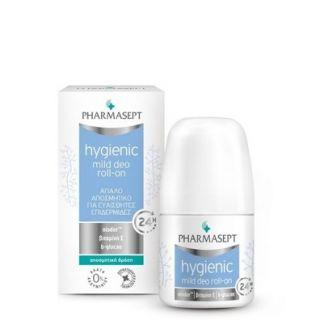Pharmasept Hygienic Mild Deo Roll-on 24h 50ml Απαλό Αποσμητικό για Ευαίσθητες Επιδερμίδες