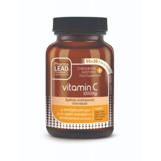 Pharmalead Βιταμίνη C 1000mg 90ταμπλέτες Βραδείας Αποδέσμευσης για Τόνωση Ανοσοποιητικού