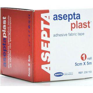 Asepta Aseptaplast 5cm X 5m Ταινίες Υφασμένες Αυτοκόλλητες