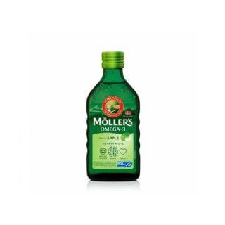 Nature's Plus Moller's με Γεύση Μήλο 250ml Μουρουνέλαιο