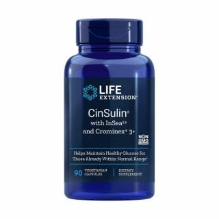 Life Extension Cinsulin With Glucose Management 90 Caps Ρύθμιση Σακχάρου