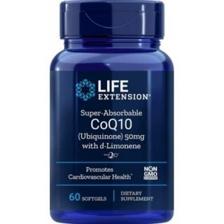 Life Extension Super-Absorbable CoQ10 with d-Limonene 50mg 60 Softgels Προστασία Καρδιαγγειακού