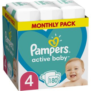 Pampers Active Baby No4 (9-14kg) 180τμχ