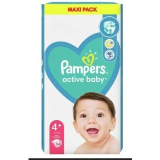 Pampers Active Baby Maxi Pack No4+ (10 - 15kg) 54 Τεμάχια