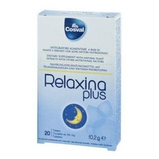 Cosval Relaxing plus 20 Tabs Συμπλήρωμα Διατροφής με Μελατονίνη για την Βελτίωση του Ύπνου