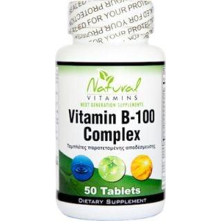 Natural Vitamins Vitamin B-100 Complex 50 Tabs