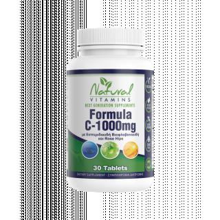Natural Vitamins Formula C 1000mg 30 Tabs Βιταμίνη C με Εσπεριδοειδή Βιοφλαβονοειδή και Rose Hips