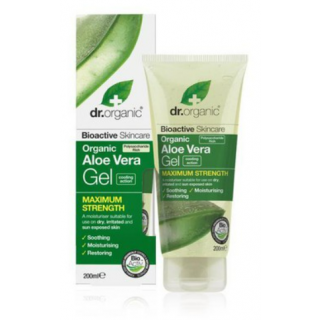 Dr. Organic Aloe Vera Gel Maximum Strength 200ml Ενυδατικό Ζελ Σώματος με Αλόη Βέρα